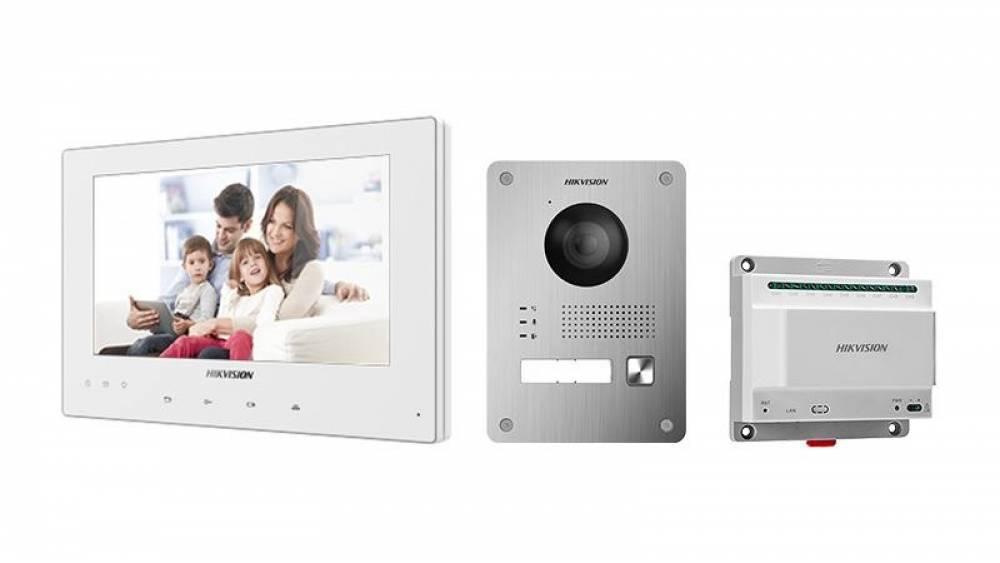 Set dvojvodičového IP videovrátnika Hikvision DS-KIS701